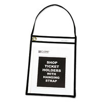"C-Line Shop Ticket Holder with Strap Black Stitched 75"" 9 x 12 15/BX 41922"