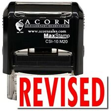 MaxStamp - Self-Inking Bold Revised Stamp (Red Ink)