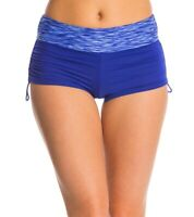 TYR Womens Sonoma Della Boy Short Fit Bikini Bottom Swimwear Blue Size S