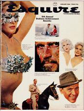 Vintage ESQUIRE MAGAZINE (Jan 1966) URSULA ANDRESS Frank Sinatra SOPHIA LOREN