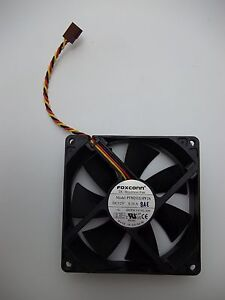 Foxconn 92mm 3-Pin 12V HIGH FLOW Cooling Processor Fan PV902512L TESTED WORKING