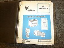 Bobcat 800 Series Attachments Parts Catalog Manual Book 5-94