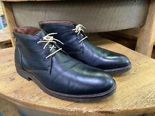 Johnston & Murphy Copeland Chukka Boots, Black Leather, Mens 12 M