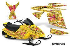 AMR Racing Ski Doo Mini Z Kids Snowmobile Wrap Sled Graphics Kit BUTTERFLY PINK