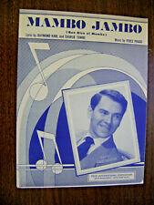 Vintage Sheet Music 1950-Mambo Jambo-Barbour-Que Rico el Mambo-Piano-Vocal