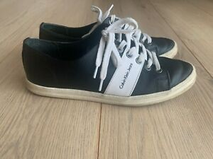 Calvin Klein trainers-shoes black and white size UK4