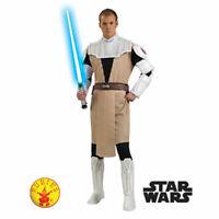 Star Wars Obi Wan Kenobi Costume Mens Adult Book Week Fancy Dress Animated M/XL
