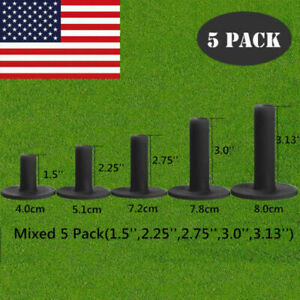 Rubber Golf Tees For Driving Range Practice Mats 5 Pk (Different Sizes) Best US