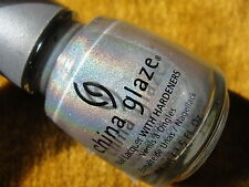 China Glaze OMG Nail Polish Lacquer - Silver Holo Holographic OMG Collection
