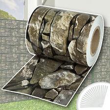 Rollo aislamiento aislante PVC 70m jardín para vallas banda mirada de piedra NUE