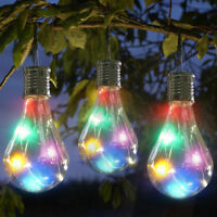 Waterproof Solar Rotatable Outdoor Garden Camping Hanging LED Light Lamp Bulb MR
