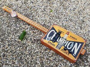 CIGAR BOX GUITAR - 3- STRING- TIN TOP LEFTY. BY SALTY DOG CBG-FREE SLIDE