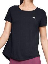 Under Armour Whisperlight Womens Training Top Black Short Sleeve Workout T-Shirt