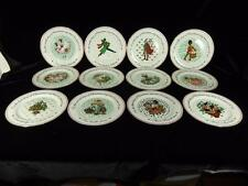 Domestications 12 Days of Christmas Plates, Complete Set, Holiday,Great Cond.