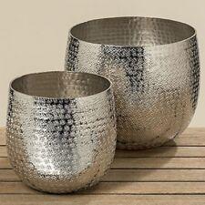 Deko-Topf Silber Pflanztopf Detroit 2tlg. SET silber Aluminium