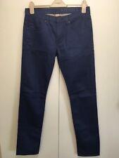 NUOVO BURBERRY BRIT Shoreditch Jeans Aderenti Blu Cotone Twill Elasticizzato 30/32