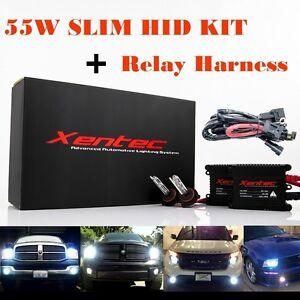 Xentec HID Kit Xenon Light + Relay Harness 55W Slim H4 H7 H11 H13 9006 9004 9007
