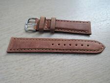Leder Uhrenarmband braun 20mm  b163