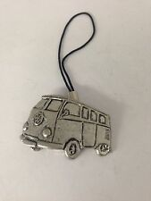 Classic Campervan PP-T23 English Pewter Emblem on a Mobile Phone Charm