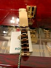 ROLEX 14K GOLD OYSTER BRACELET Clasp-7205,19mm Ends LENGTH 170mm