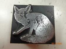Printing Letterpress Printer Block Decorative Fox Print Cut