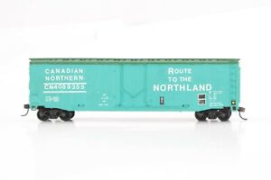 HO Custom Painted and Decaled Canadian Northern 50ft Plug Door Box Car Mod Cplrs