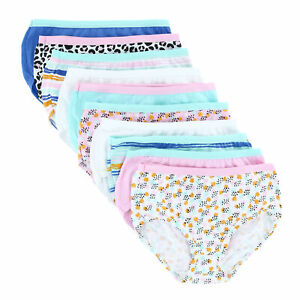 New Fruit of the Loom Girl's Assorted Cotton Brief (10 Pack)