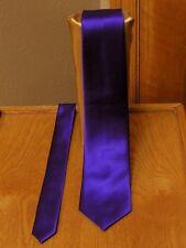 Lapis / Purple  Neck Tie Mens Satin Steampunk Tuxedo Wedding Prom Groom Suit