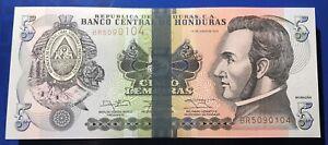 Honduras 5 Lempiras 2014 UNC Nice lot of 10 Banknotes