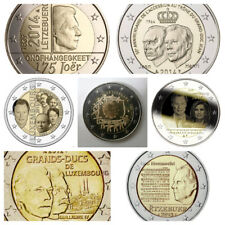 2 Euros Luxemburgo 2007 TR, 2009,  2012, 2013, 2014 y 2015. SC.