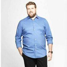 Goodfellow & Co Mens French Blue Button Down Dress Shirt 4X Big & Tall