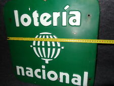 lottery sign old Spanish national lottery sign 50 loteria nacional