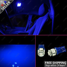(2) Ultra Blue Interior Dome Map T10 Wedge LED Light Bulb 168 2825 194 192