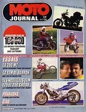 MOTO JOURNAL 720 MZ 250 ETZ YAMAHA 500 SR OW 81 YZ HONDA PHARAONS 1985