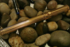 $350 TOURNEAU 23KT GOLD P DIAMOND CUT PEN GERMAN MADE !! 90% OFF  !!!!!!!!!!!!