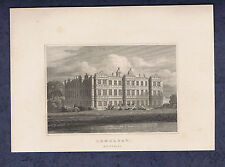 LONGLEAT Elizabethan Mansion -Wiltshire-Great Britain Illustrated Engraving 1831