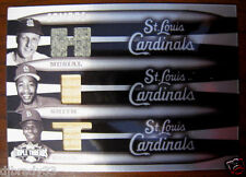 Stan Musial, Brock, Smith 2006 Topps Triple Threads White Whale  Game Used 1/1