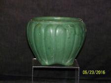 Antique Zanesville Cucumber Glaze Ribbed Vase/Bowl Arts & Crafts Era