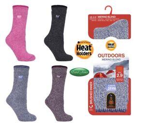 UK 4-8 MERINO WOOL BLEND Heat Holders Socks / Reinforced Heel & Toes 2.9 Tog