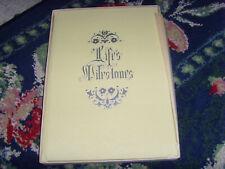 Vintage Baby Memory Book Album Life's Milestones nursery Vtg chic book unisex