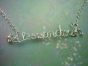 Personalised Name Necklace - Silver - 9 to 11 letters With Silver Chain