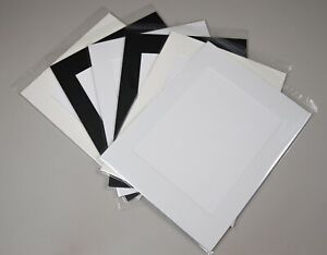 """24 x Professional Picture Framing Mat Boards 16x20"""" with 9x12"""" Window Mount Kits"""