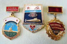 Russische Abzeichen - Marine U-Boot - Für große Fahrt - Wettbewerbssieger 1980