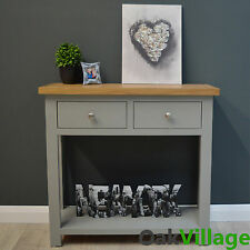 Grey Painted Console Table Oak / Grey Hallway Furniture / Solid Wood / Greymore