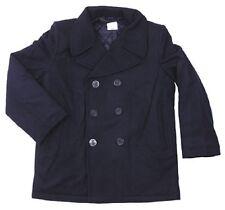 US Vintage Navy Pea Coat Marine Army Kurzmantel Mantel Jacke blue blau L / Large