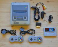 SNES - Super Nintendo Konsole mit 2 Controller + Super Mario World