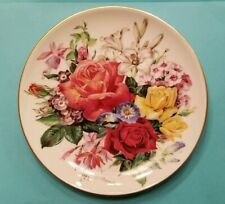 Collectible HUTSCHENREUTHER Numbered Flower Plate - Made in Germany