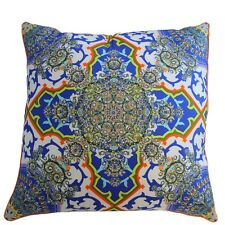 new CAMILLA FRANKS SILK SWAROVSKI (both sides) FORMENTERA LARGE CUSHION