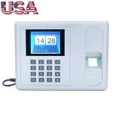 "2.4"" Biometric Fingerprint Password Attendance System Check-in Time Clock Reader"