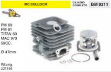 227515 CILINDRO E PISTONE MOTOSEGA McCULLOCH PM 60 61 MAC 970 59cc Ø 47 mm
